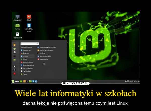 Wiele lat informatyki w szkołach – żadna lekcja nie poświęcona temu czym jest Linux